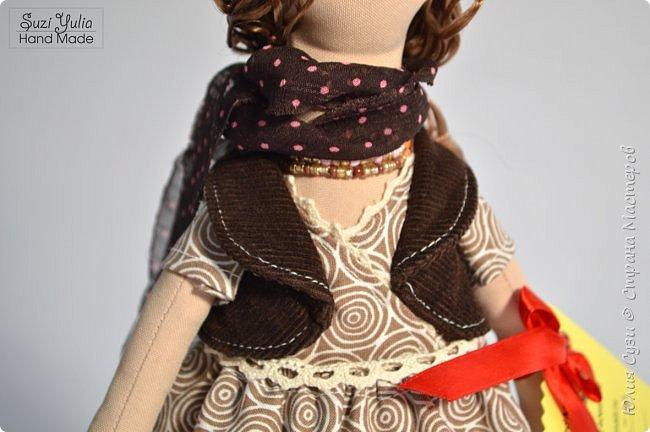 Куколка для коллеги по работе) Платье из американского хлопка, очень приятно с ним работать! фото 5