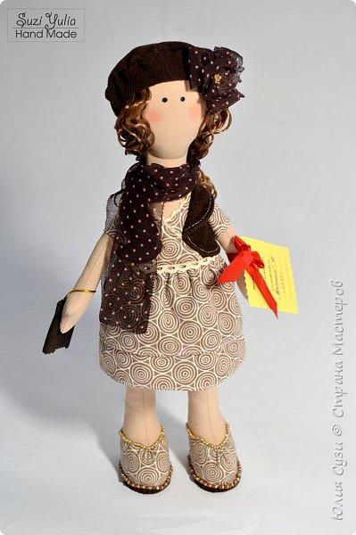 Куколка для коллеги по работе) Платье из американского хлопка, очень приятно с ним работать! фото 2