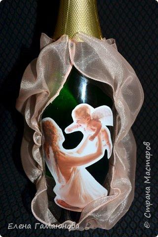 Бутылка на рождение сына фото 4