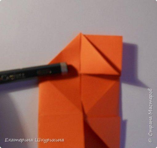 Вот такое чудо собралось. Визуально похоже на одно из творений Томоко Фусэ, но различаются в сборке.  Name: Hoffnung Parts:30 Paper:10*10 Final heigh:~9 cm фото 19