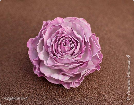 Роза из фоамирана - осваиваю материал)