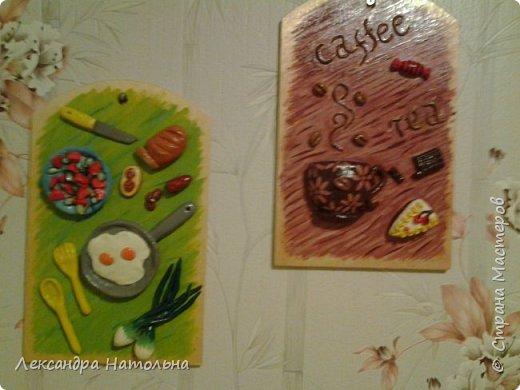 Привет всем)Вот такие досочки я сделала на кухню маме)))Идея мамина а воплощение мое) фото 1