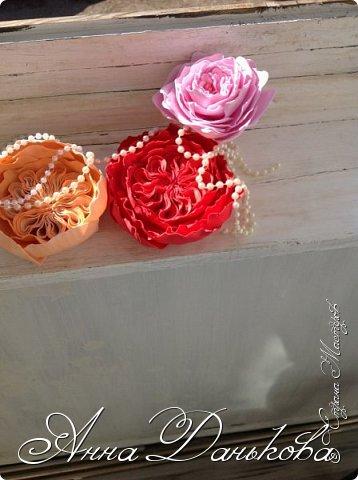 Поделка изделие Моделирование конструирование Мастер-класс Чайно-гибридная пионовидная роза из фоамирана с круглой серединкой Фоамиран фом фото 12
