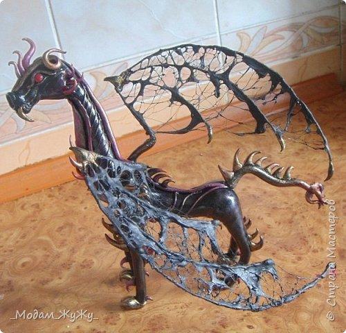 Мастер-класс Скульптура Лепка Роспись МК по созданию неизвестного науке да и пожалуй самой мне существа = Краска Пластика фото 27
