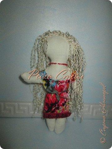 Это кукла Алиса, первая моя самодельная кукла. Сшить куклу я хотела давно, но осуществить мечту получилось только сейчас.  фото 1