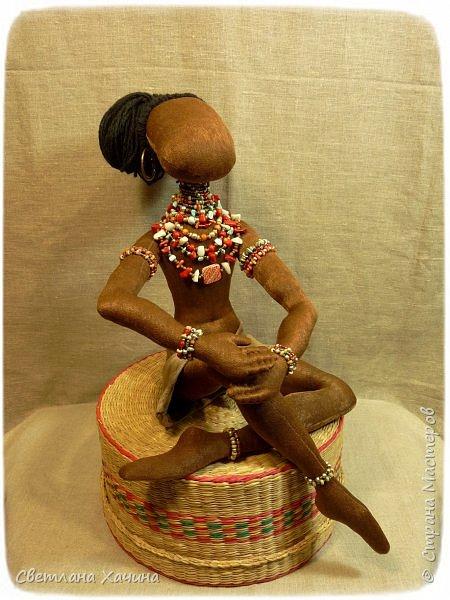 Вот, дозрела ягодка! Готова наша Афро-девица. Вообще-то планировался парень, но получилось, как всегда... кукла сама решила кем ей быть и весь свой облик. Знакомьтесь.  фото 3