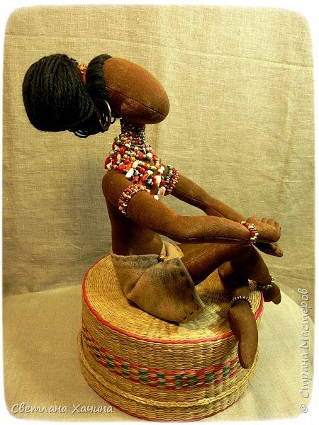 Вот, дозрела ягодка! Готова наша Афро-девица. Вообще-то планировался парень, но получилось, как всегда... кукла сама решила кем ей быть и весь свой облик. Знакомьтесь.  фото 4