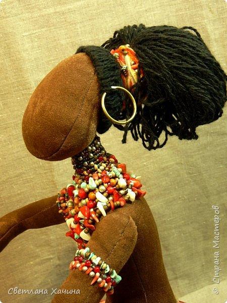 Вот, дозрела ягодка! Готова наша Афро-девица. Вообще-то планировался парень, но получилось, как всегда... кукла сама решила кем ей быть и весь свой облик. Знакомьтесь.  фото 5