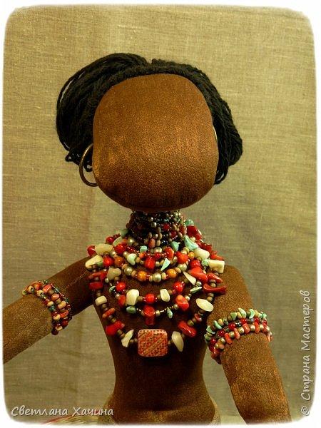 Вот, дозрела ягодка! Готова наша Афро-девица. Вообще-то планировался парень, но получилось, как всегда... кукла сама решила кем ей быть и весь свой облик. Знакомьтесь.  фото 9