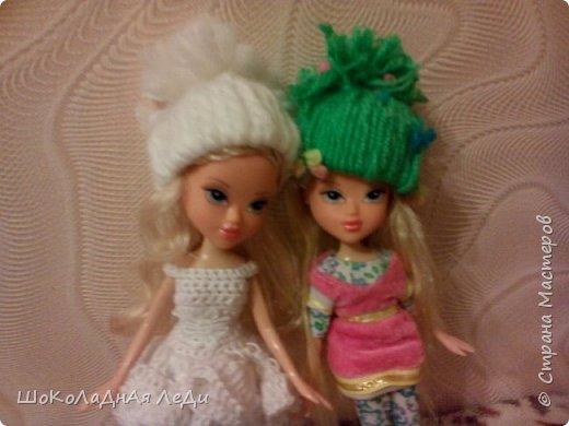 Сегодня я сделала по мк Лилии шапочки для кукол  фото 1