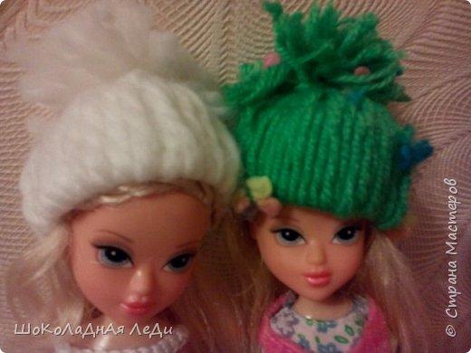 Сегодня я сделала по мк Лилии шапочки для кукол  фото 2