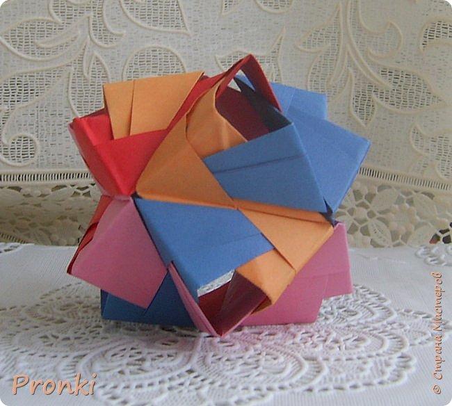 """В процессе занятий на курсах """"Ателье бумажной игрушки"""" познакомилась с техникой модульного оригами. И так меня затянуло, что никак не могу остановиться. Вот что пока получилось. фото 1"""