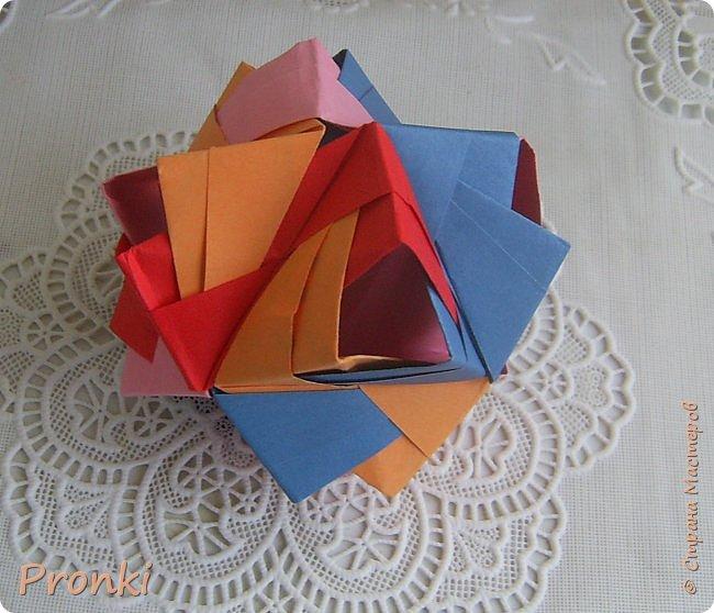 """В процессе занятий на курсах """"Ателье бумажной игрушки"""" познакомилась с техникой модульного оригами. И так меня затянуло, что никак не могу остановиться. Вот что пока получилось. фото 2"""