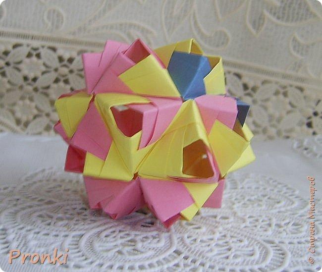 """В процессе занятий на курсах """"Ателье бумажной игрушки"""" познакомилась с техникой модульного оригами. И так меня затянуло, что никак не могу остановиться. Вот что пока получилось. фото 4"""