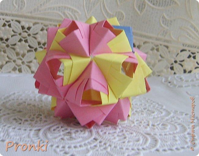 """В процессе занятий на курсах """"Ателье бумажной игрушки"""" познакомилась с техникой модульного оригами. И так меня затянуло, что никак не могу остановиться. Вот что пока получилось. фото 5"""