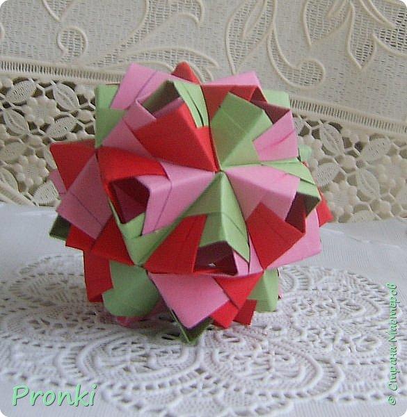 """В процессе занятий на курсах """"Ателье бумажной игрушки"""" познакомилась с техникой модульного оригами. И так меня затянуло, что никак не могу остановиться. Вот что пока получилось. фото 6"""