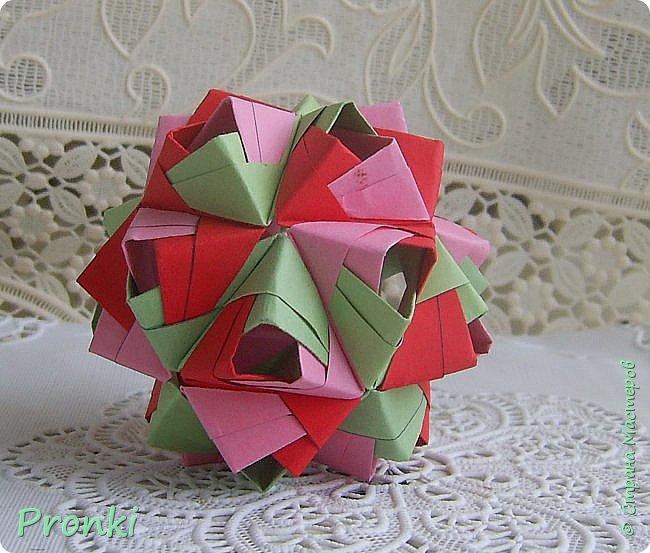 """В процессе занятий на курсах """"Ателье бумажной игрушки"""" познакомилась с техникой модульного оригами. И так меня затянуло, что никак не могу остановиться. Вот что пока получилось. фото 7"""
