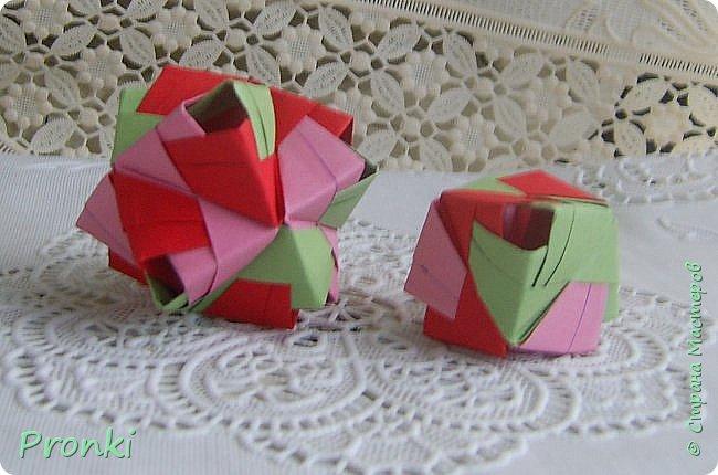 """В процессе занятий на курсах """"Ателье бумажной игрушки"""" познакомилась с техникой модульного оригами. И так меня затянуло, что никак не могу остановиться. Вот что пока получилось. фото 9"""