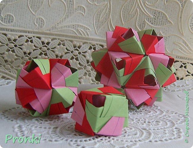 """В процессе занятий на курсах """"Ателье бумажной игрушки"""" познакомилась с техникой модульного оригами. И так меня затянуло, что никак не могу остановиться. Вот что пока получилось. фото 10"""