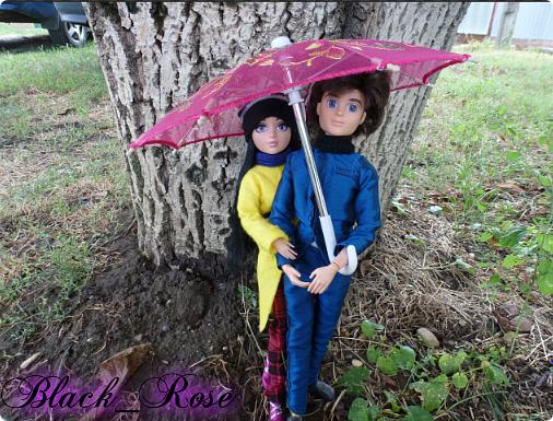 -Блин, опять вышли прогуляться в самый дождь -За-то я взяла зонтик:) фото 1