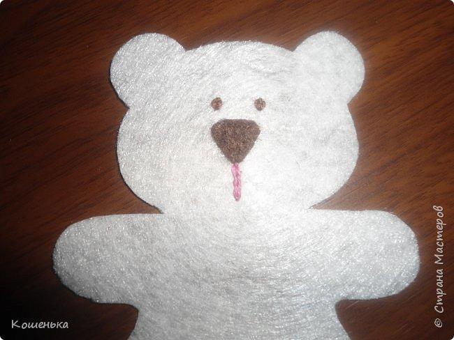Добрый вечер, дорогие мастерицы! Предлагаю Вашему вниманию обещанный мастер-класс по изготовлению медвежонка из фетра. фото 11