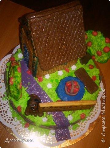 Здравствуй, Страна! Налепила тортиков, решила похвастаться. Заказчикам понравилось.  Торт с цветами. Вес 2,2 кг. Внутри рафаэлло. фото 6