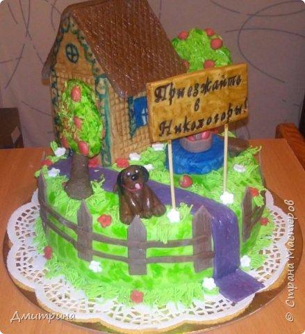 Здравствуй, Страна! Налепила тортиков, решила похвастаться. Заказчикам понравилось.  Торт с цветами. Вес 2,2 кг. Внутри рафаэлло. фото 5