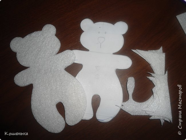 Добрый вечер, дорогие мастерицы! Предлагаю Вашему вниманию обещанный мастер-класс по изготовлению медвежонка из фетра. фото 5