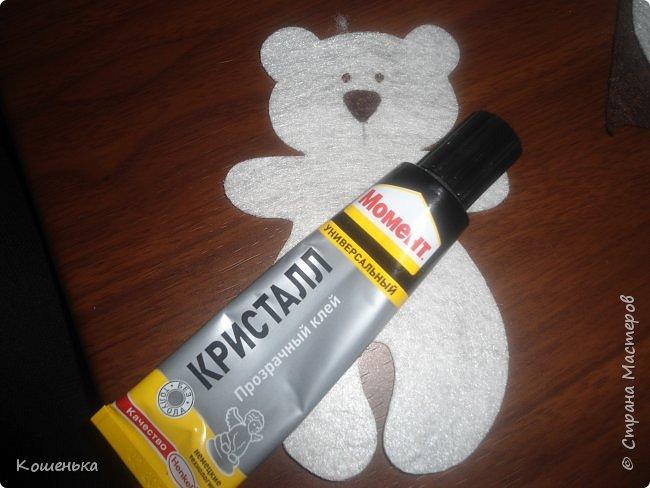 Добрый вечер, дорогие мастерицы! Предлагаю Вашему вниманию обещанный мастер-класс по изготовлению медвежонка из фетра. фото 9
