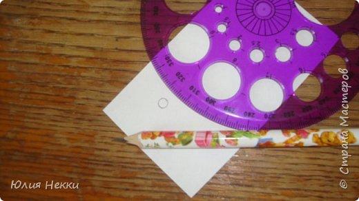 Привет Страна Мастеров! Хочу поделиться МК по созданию таких вот маленьких цветочков. Этот МК для тех у кого нет фигурных дыроколов а цветочки нужны позарез! Их можно использовать для украшения открыток, пано и др. поделок. Приступим? :) фото 3