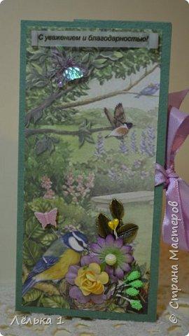 """Всем приветик! Я сегодня со своими первыми шоколадницами, (заказали для воспитателей в детский сад). Использовала набор бумаги mr. Painter 15*15"""" Лесные сказки"""",  цветочки, подвески, чипборд и т.д. Много писать не буду, итак все видно. фото 3"""