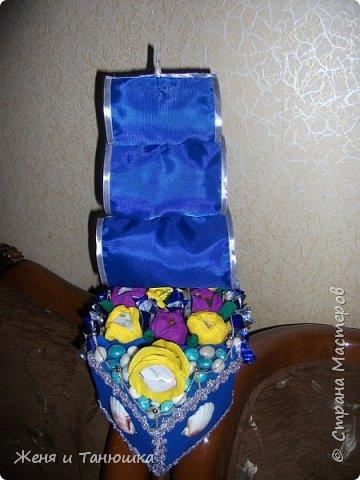 Просто кораблик из конфеток. фото 2