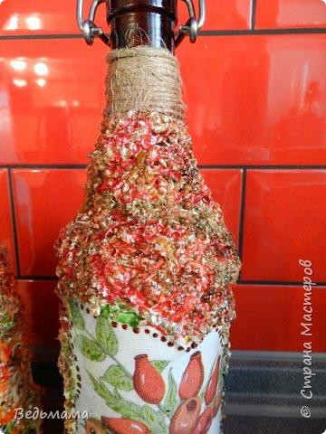 вот такие бутылочки сделала для вина из крыжовника! Спасбо мастерклассу https://stranamasterov.ru/node/446767?c=favorite фото 3