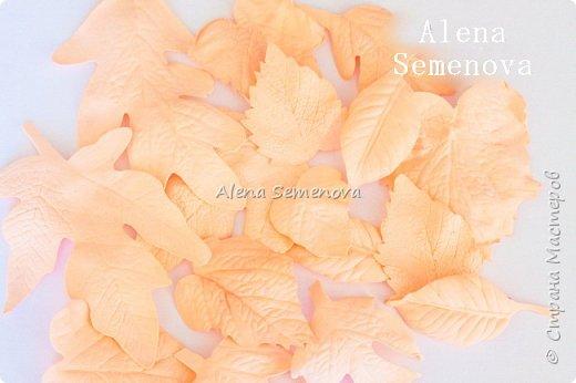 Осень — это вторая весна, когда каждый лист — цветок. Альбер Камю. Мой новый мастер-класс по изготовлению осенних листьев из фоамирана. фото 8