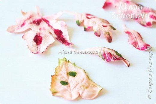 Осень — это вторая весна, когда каждый лист — цветок. Альбер Камю. Мой новый мастер-класс по изготовлению осенних листьев из фоамирана. фото 10