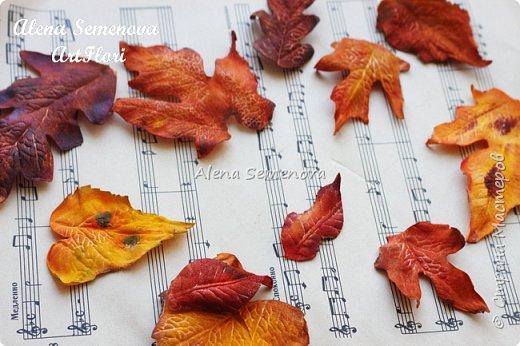 Осень — это вторая весна, когда каждый лист — цветок. Альбер Камю. Мой новый мастер-класс по изготовлению осенних листьев из фоамирана. фото 14