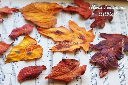 Осень — это вторая весна, когда каждый лист — цветок.  Альбер Камю.  Мой новый мастер-класс по изготовлению осенних листьев из фоамирана. фото 13