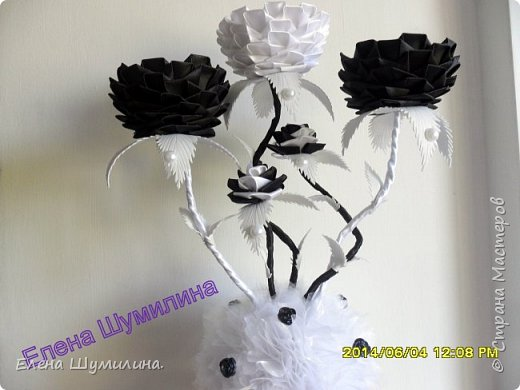 подсвечник в черно-белом цвете фото 1