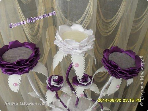 подсвечник в черно-белом цвете фото 3