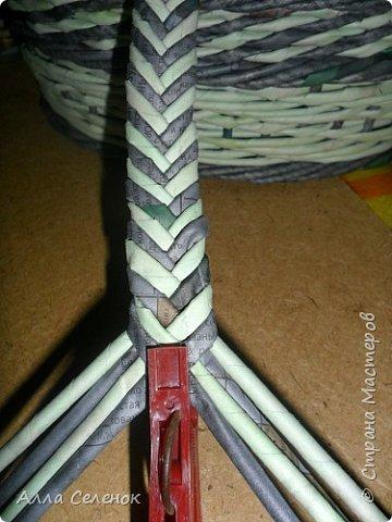Мастер-класс Поделка изделие Плетение Косичка из 8 трубочек Бумага газетная Трубочки бумажные фото 9