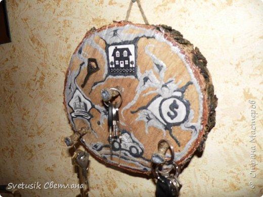 Здравствуйте мастера и мастерицы! Хотелось продемонстрировать Вам мою первую ключницу, идея не моя , подсмотрела у автора Сенакия.  фото 2