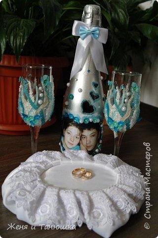 Бутылочки, бокальчики свадебные. фото 2