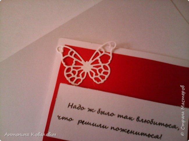 Вот такая вот коробочка. Любимый цвет невесты красный, поэтому и сама коробочка красная. Думала сегодня уже не выложу, но успела. Это моя первая шкатулочка) Фото очень много!!! фото 9