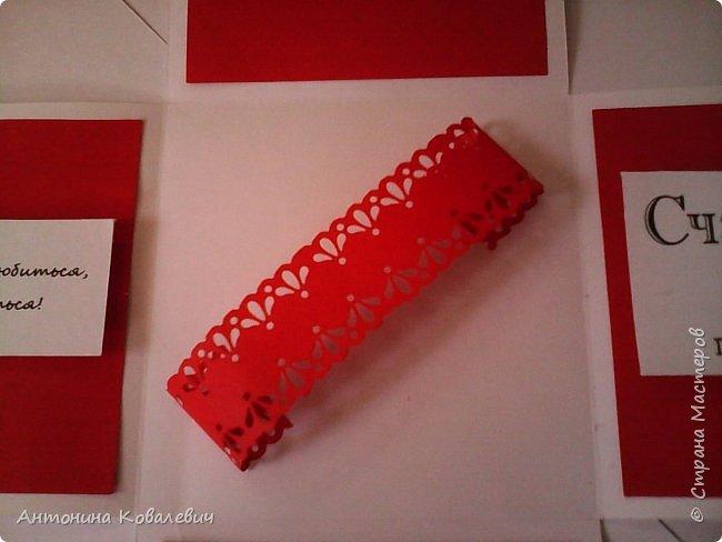 Вот такая вот коробочка. Любимый цвет невесты красный, поэтому и сама коробочка красная. Думала сегодня уже не выложу, но успела. Это моя первая шкатулочка) Фото очень много!!! фото 11