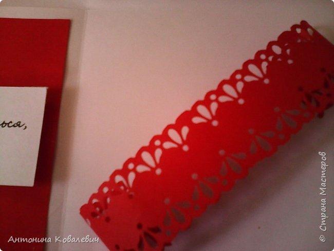 Вот такая вот коробочка. Любимый цвет невесты красный, поэтому и сама коробочка красная. Думала сегодня уже не выложу, но успела. Это моя первая шкатулочка) Фото очень много!!! фото 12