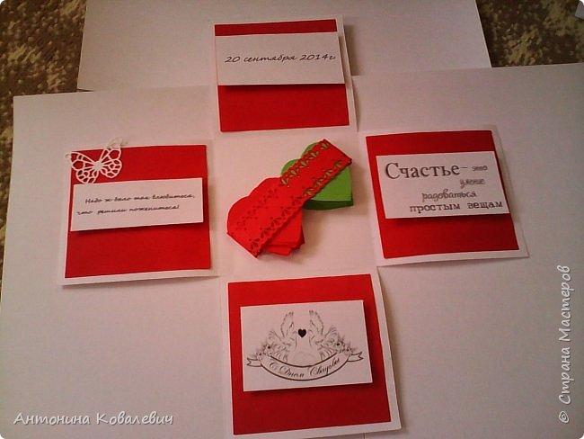 Вот такая вот коробочка. Любимый цвет невесты красный, поэтому и сама коробочка красная. Думала сегодня уже не выложу, но успела. Это моя первая шкатулочка) Фото очень много!!! фото 18