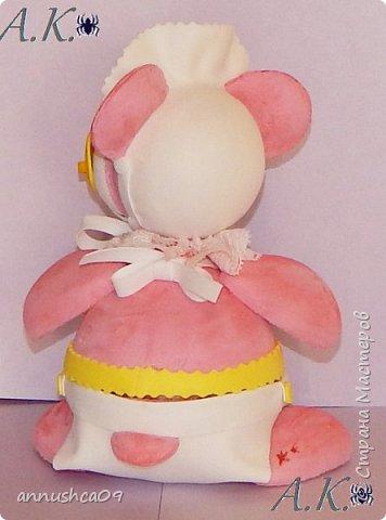 Мишка малышка сделан по той же технологии, что и мышка балерина. фото 3