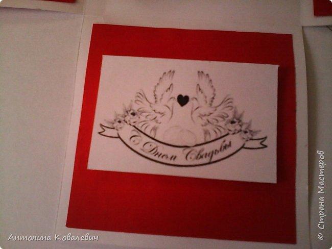 Вот такая вот коробочка. Любимый цвет невесты красный, поэтому и сама коробочка красная. Думала сегодня уже не выложу, но успела. Это моя первая шкатулочка) Фото очень много!!! фото 7