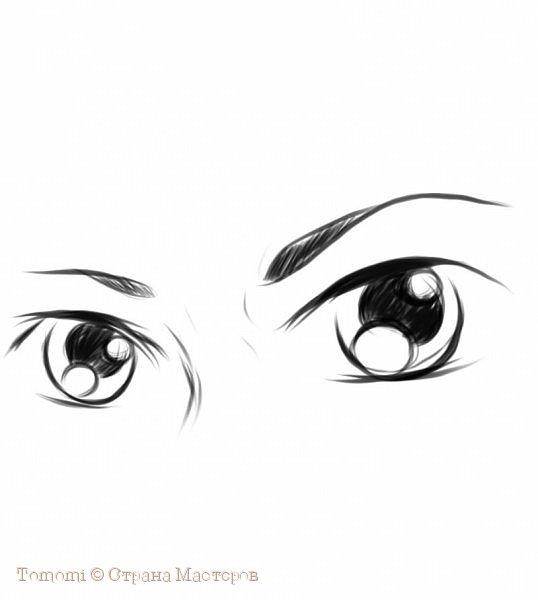 Рисуем Аниме глаза. фото 1