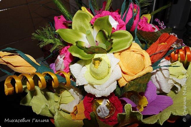 Сегодня у меня две работы! букет для сына на первое сентября,а композиция для очень хорошего человечка у которого я покупаю свои любимые цветы и добавки для моих творений фото 3